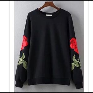Embroidered sweater NWOT